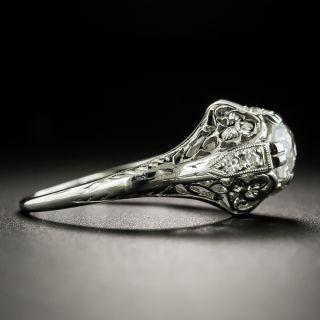 Art Deco .67 Carat Diamond Solitaire Engagement Ring - GIA H VS2