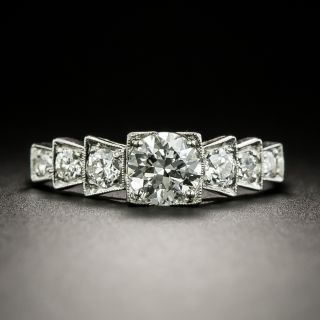 Art Deco .70 Carat Diamond Engagement Ring - GIA  G VVS 2 - 3
