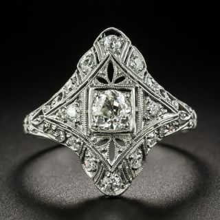 Art Deco .70 Carat Total Weight Diamond Dinner Ring - 2