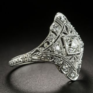 Art Deco .70 Carat Total Weight Diamond Dinner Ring