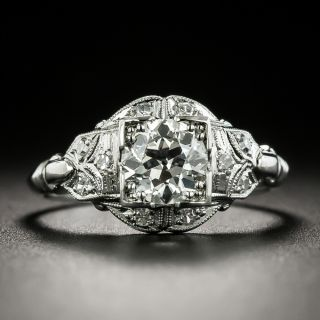Art Deco .81 Carat Diamond Engagement Ring - GIA I SI1 - 3