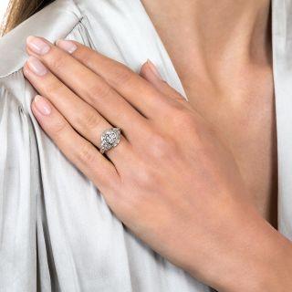 Art Deco .81 Carat Diamond Engagement Ring - GIA I SI1