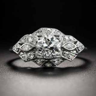 Art Deco .86 Carat Diamond Engagement Ring - GIA J VS2 - 1