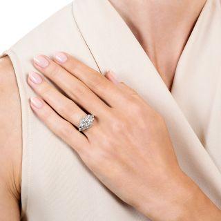Art Deco .86 Carat Diamond Engagement Ring - GIA J SI2