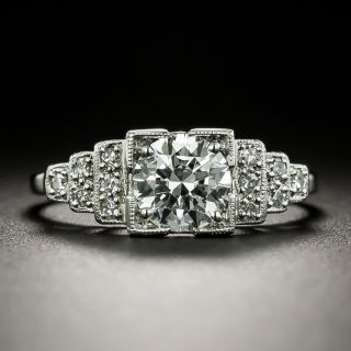 Art Deco .88 Carat Diamond Engagement Ring - GIA E VS1 - 3
