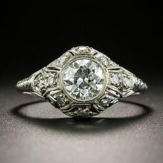 Art Deco .88 Carat Diamond Engagement Ring - GIA F VS2 - 3