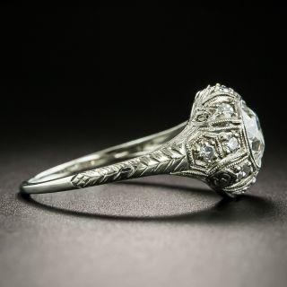 Art Deco .88 Carat Diamond Engagement Ring - GIA F VS2
