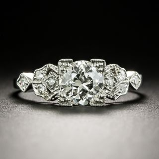 Art Deco .88 Carat Diamond Engagement Ring - GIA K VS2 - 3