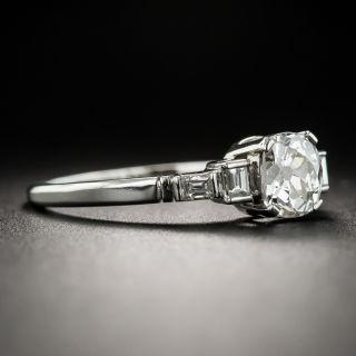 Art Deco .91 Carat Antique Cushion-Cut Diamond Engagement Ring - GIA J SI1