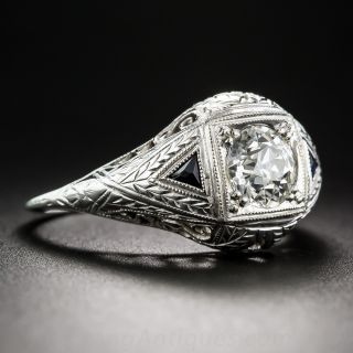 Art Deco .95 Carat Diamond Engagement Ring