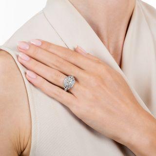 Art Deco .98 Carat Octagonal-Cut Diamond Engagement Ring - GIA J SI2