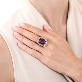 Art Deco Amethyst and Seed Pearl Ring by White, Wile, and Warner