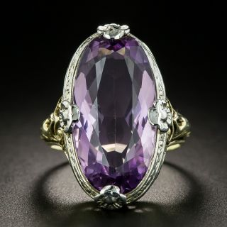 Art Deco Amethyst Dinner Ring - 2
