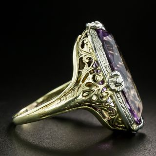 Art Deco Amethyst Dinner Ring