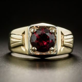 Art Deco Arizona Garnet Gent's Ring - 1