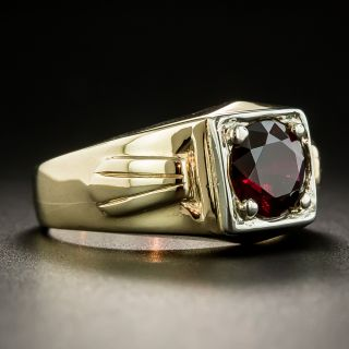 Art Deco Arizona Garnet Gent's Ring