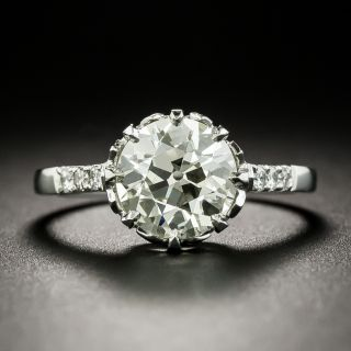 Art Deco Austrian 2.08 Carat Diamond Engagement Ring - GIA N SI2 - 2