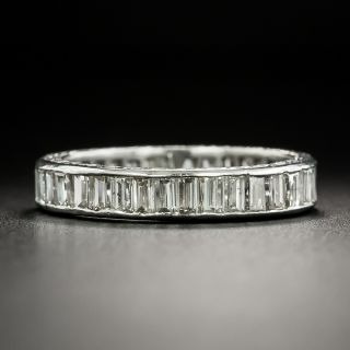 Art Deco Baguette Diamond Eternity Band - Size 6