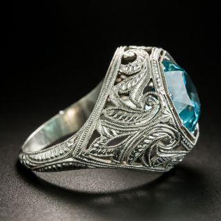 Art Deco Blue Zircon Ring