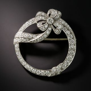 Art Deco Circle Bow Brooch - 2