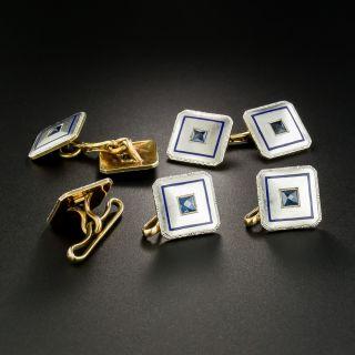 Art Deco Cufflink and Stud Set by L.E. Garrigus