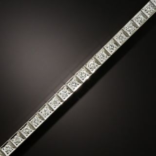Art Deco Diamond and Platinum Line Bracelet - 3