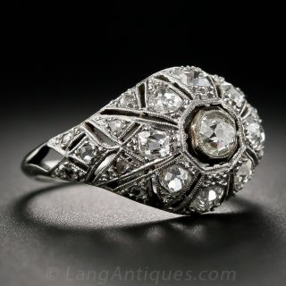 Art Deco Diamond Bombe Ring