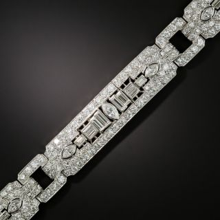 Art Deco Diamond Bracelet by Katz and Ogush - 2