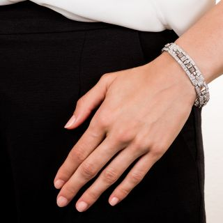Art Deco Diamond Bracelet by Katz and Ogush