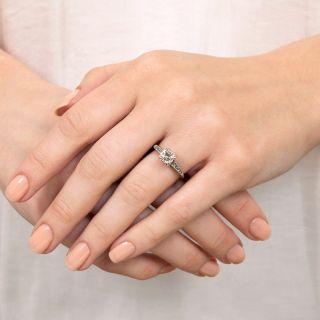 Mid-Century .62 Carat Diamond Engagement Ring
