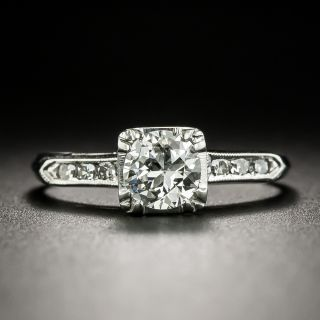 Mid-Century .62 Carat Diamond Engagement Ring - 1