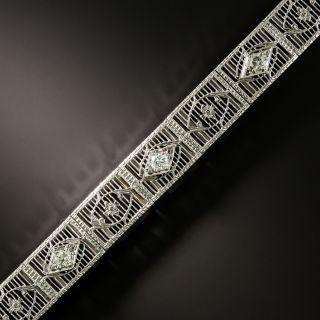 Art Deco Diamond Filigree Bracelet - 3