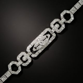 Art Deco Diamond Link Bracelet - 2