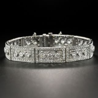 Art Deco Diamond Link Bracelet - 3