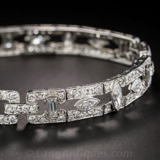 Art Deco Diamond Link Bracelet, Circa 1925