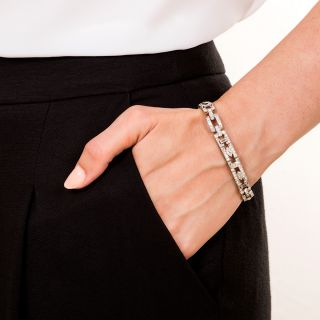 Art Deco Diamond Link Bracelet, Circa 1925