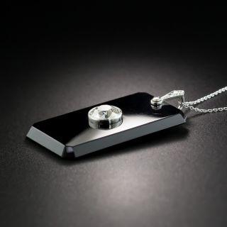 Art Deco Diamond Onyx Pendant