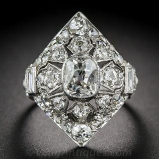 Art Deco Diamond Pagoda Dinner Ring - 1