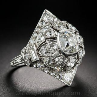 Art Deco Diamond Pagoda Dinner Ring