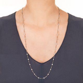 Art Deco Diamond Platinum Neck Chain