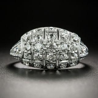 Art Deco Diamond Tonneau Ring - 2