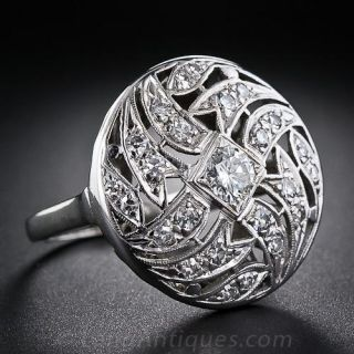Art Deco Domed Diamond Cocktail Ring