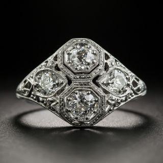 Art Deco 4-Stone Diamond Ring  - 1