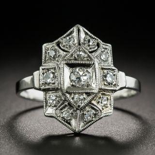 Art Deco Geometric Diamond Dinner Ring - 2