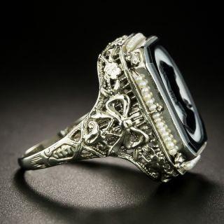 Art Deco Onyx Cameo Ring