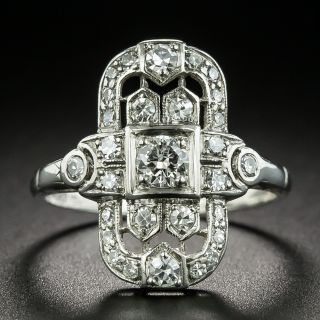 Art Deco Openwork Diamond Dinner Ring - 2