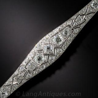 Art Deco Platinum and Diamond Bracelet  - 1