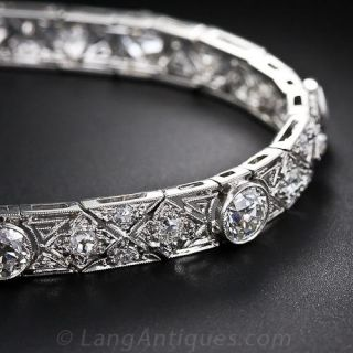 Art Deco Platinum and Diamond Bracelet by Gilpin & Smith - 1