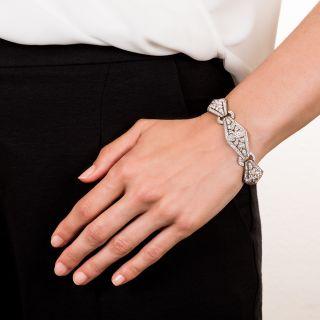 Art Deco Platinum and Diamond Bracelet - Viennese