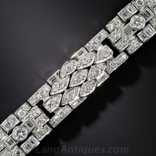 Art Deco Platinum Diamond Bracelet - 1